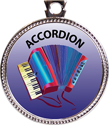 Accordion Award, 1 inch dia Silver Medal