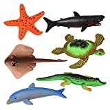 ArtCreativity Growing Sea Animals 6 Different Water Expanding Sea Creatures| Grows 6X Larger | Amazing Sensory Jelly-Like Toy | Fun & Educational Gift for Boys & Girls.