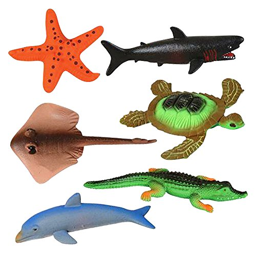 ArtCreativity Growing Sea Animals 6 Different Water Expanding Sea Creatures| Grows 6X Larger | Amazing Sensory Jelly-Like Toy | Fun & Educational Gift for Boys & Girls. ()