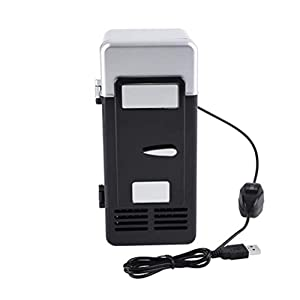 Fridge, MAGT LED Mini Portable USB Refrigerator Cooler And Warmer To Keep Cola Coffee In Car Office