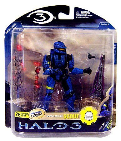 (Halo 3 Mcfarlane Toys Series 3 Exclusive Action Figure Blue Spartan Soldier)