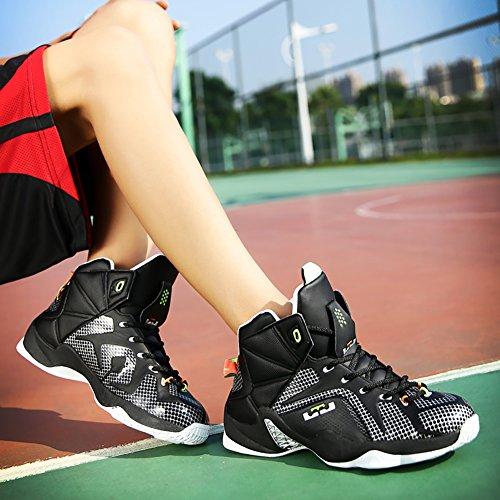 No.66 Mens Da Uomo Scarpe Da Corsa Sneaker Da Allenamento Con Ammortizzazione Nero Bianco