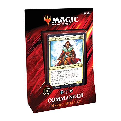 Magic: The Gathering Commander 2019 Mystic Intellect Deck | 100-Card Ready-to-Play Deck | 3 Foil Commanders | Factory Sealed (Guild Wars 2 Path Of Fire Ultimate)