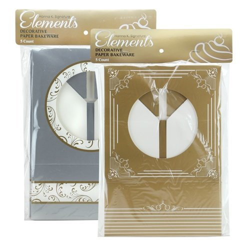 - Hanna K. Signature 5 Count Elements Cookie Gift Boxes, Gold/Silver
