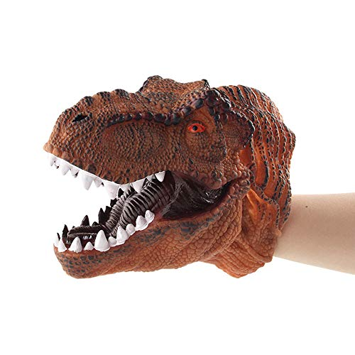 Educational Dolls Clearance, Dinosaur Hand Puppets Role Play Realistic Tyrannosaurus Rex Head Gloves Soft Toy (E)
