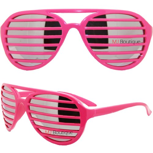 Full Shades Shutter Sunglasses with Lenses - Pink