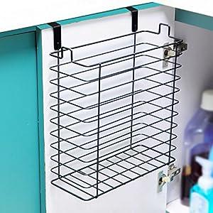 neat o over the cabinet trash can basket storage organizer holder. Black Bedroom Furniture Sets. Home Design Ideas