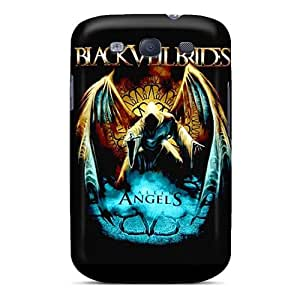 Snap-on Black Veil Brides Case Cover Skin Compatible With Galaxy S3