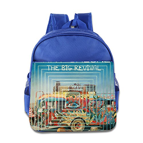 Price comparison product image CEDAEI Kenny Country Music Singer Chesney Superb Kids School Bag For 1-6 Years Old RoyalBlue