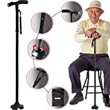 Best Walking Canes - Sminiker Professional LED Folding Walking Cane with Carrying Review