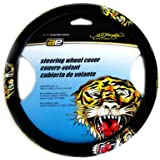 Microfiber Faux Suede Steering Wheel Cover - Ed Hardy by Christian Audigier Tiger Tattoo Design