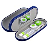 SUPVOX Contact Lens Travel Kit Case Box Container Holder with Mirror Tweezers (Royalblue)