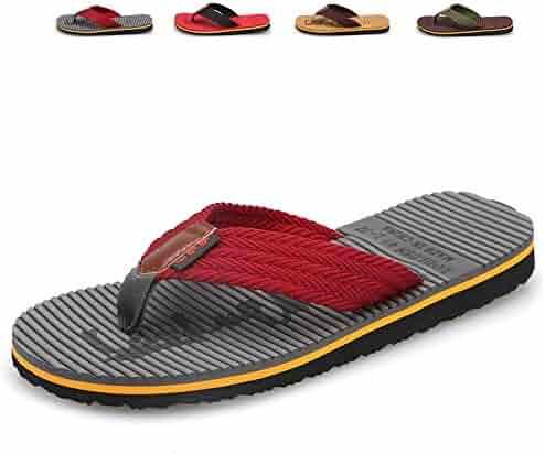 73c1a1abb118e1 CIOR Men's Classica Flip-Flops Sandals Light Weight Shock Proof Slippers  Comfortable Handmade Fashion Indoor