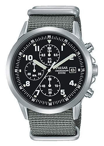 9efa50e7 Mens Pulsar Military Style Chronograph Watch PM3129X1 - Formally and  Enhanced PJN305X1: Amazon.co.uk: Watches