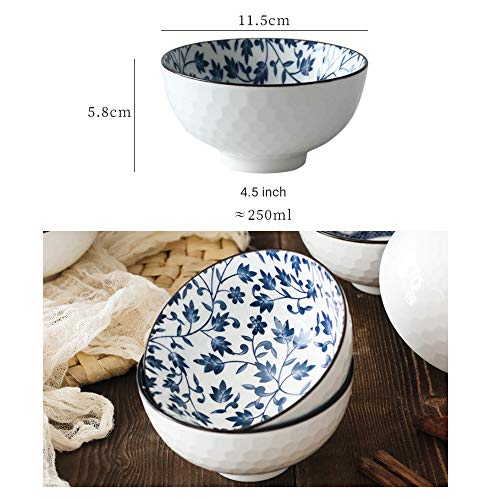 YLee Ceramic Bowl Bone China Cutlery Set Jingdezhen Tableware Chinese Blue and White Porcelain Tableware Kitchen Dining Supplies,C by YLee (Image #3)