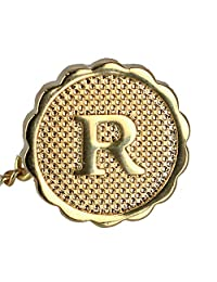 Ascentix Men's Gold Tie Tack with Initial, R