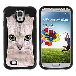 Suave TPU GEL Carcasa Funda Silicona Blando Estuche Caso de protección (para) Samsung Galaxy S4 IV I9500 / CECELL Phone case / / White Singapura Kitten Devon Cat /