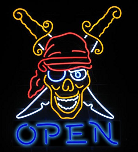 Tattoo Open Neon 24''x20''Inches Bright Neon Light for Business Beauty Spa Salon Shop Store