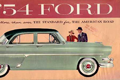 1954 Ford Sales Brochure Literature Book Piece Advertisement Specs Options