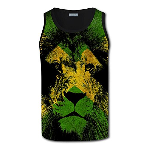 qingqingdel Jamaican Rasta Royal Lion 3D Custom Sleeveless T-Shirt Men's Tank Top (Custom Sleeveless)