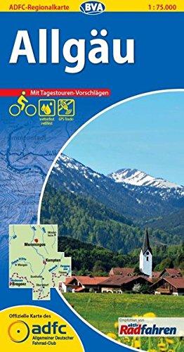 ADFC-Regionalkarte Allgäu mit Tagestouren-Vorschlägen, 1:75.000, reiß- und wetterfest, GPS-Tracks Download (ADFC-Regionalkarte 1:75000)