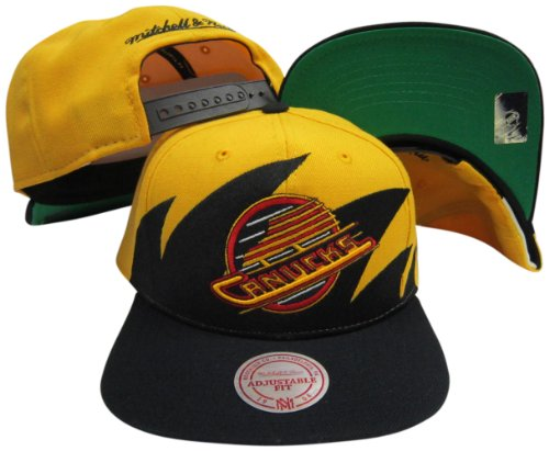 9660c25eaec Mitchell   Ness Vancouver Canucks Snapback Adjustable Plastic Snap Back Hat  .