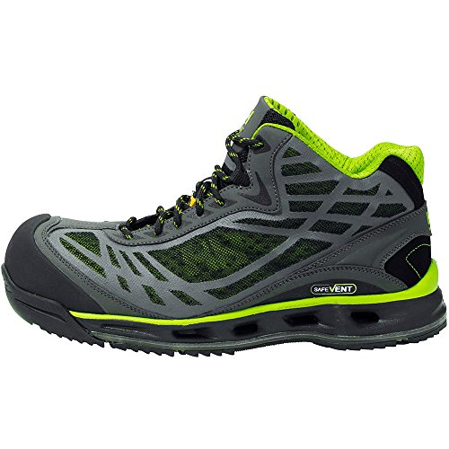 Helly Hansen Mens Magni SV Flow Mid S1P Workwear Safety Boots negro/verde