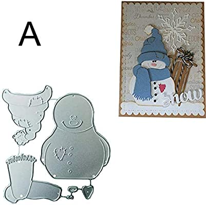 Snowman Lace Metal Cutting Dies Scrapbooking Stencils DIY Paper Card Craft Decor