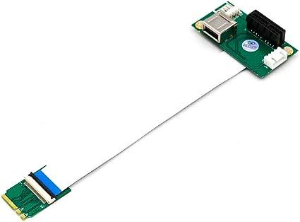 Key A//E//A+E To Mini PCI-E Adapter With FFC Cables Practical NGFF Shiwaki 1 Set M.2