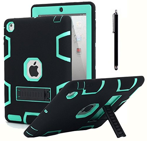 Shockproof Heavy Duty Armor Case for Apple iPad Air 2 (Green) - 2