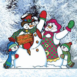 Pattern for Snowman Family Greeters