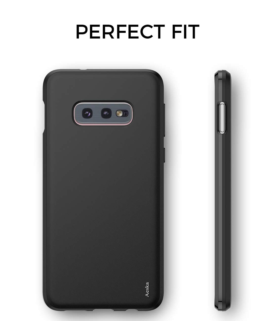 Galaxy S10 Lite Case, Aeska Ultra [Slim Thin] Flexible TPU Gel Rubber Soft Skin Silicone Protective Case Cover Compatible for Samsung Galaxy S10 Lite