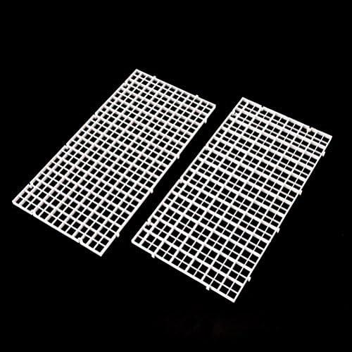 White Grid Divider EggCrate Louvre 48 x 24 Nominal Size for Aquarium Lighting AZM 12mm 1//2