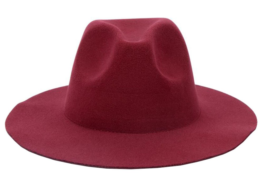 Amazon.com  East Majik Women and Men Wide Brim Fedora Hat - Wine Red   Sports   Outdoors b15a384c070