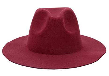 7b30d0f45fbc5 Image Unavailable. Image not available for. Color  East Majik Women and Men  Wide Brim Fedora Hat - Wine Red