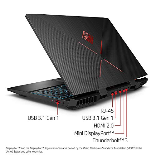 OMEN by HP 15-inch Gaming Laptop, FHD 144Hz Display, Intel i7-8750H Processor, NVIDIA GTX 1060 6GB, 16GB RAM, 128GB SSD, 1TB HDD, Win10H, 15-dc0030nr (Renewed)