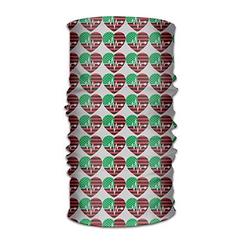 LingLake Unisex Cool Black Pride Pan African American Flag Heart Headwear Outdoor Magic Bandana As Neck Gaiter Head Wrap Headband Scarf Face Mask Ultra Soft Elastic Quick Dry (Team Pride Fleece)