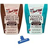 Bob's Red Mill Vegan Protein Powder Variety Pack, Chocolate and Vanilla, 16 Oz 1 Bag of Each with Spice of Life Bag Clip