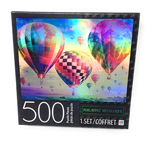 Milton Bradley Hot Air Balloon Sunset Foil 500 Piece Puzzle