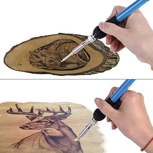 45 Pcs Wood Burning Kit, Pyrography Wood Burner Set with