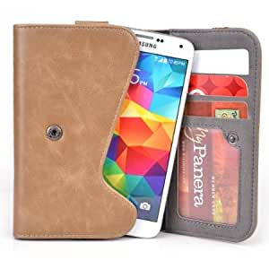5 Inch Phone Wallet Case with Belt Loop and Credit Card Slots fits HTC Vigor