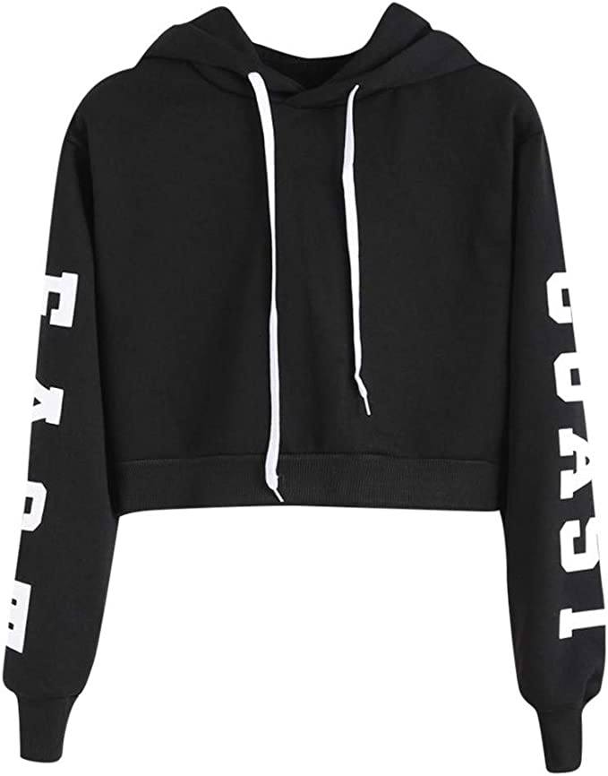 Teen Kids Girls Eye and Eyelash Print Cute Sweatshirts Pullover Tops Clothes
