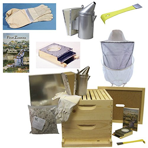 Deluxe Beehive Starter Kit - Premium Bee Hives for Beginners and Pros...