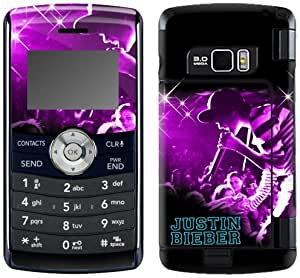 MusicSkins, MS-JB140034, Justin Bieber - Sparkle Purple, LG enV3 (VX9200), Skin