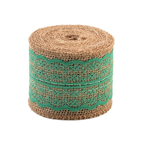 (eZthings Decorative Designer Fabric Ribbons for Home Craft Projects and Gift Baskets (3 Yard, Teal(2.4