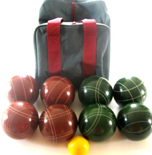 Premium Quality EPCO Tournament Bocce Set - 114mm Red and Green Balls with high quality nylon... by Epco