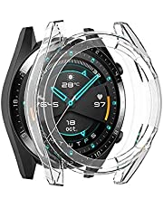 Compatible with Huawei Watch GT/GT2 46mm Watch Case, Soft TPU All-Around Protective Shell Cover, Clear