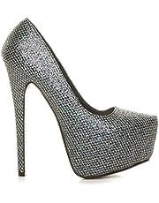 Ajvani Women's High Heel Concealed Platform Court Shoes Pumps Size