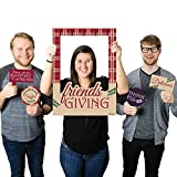 Big Dot of Happiness Friends Thanksgiving Feast - Friendsgiving Party Selfie Photo Booth Picture Frame & Props - Printed on Sturdy Material