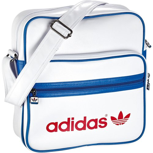 Adidas W68804 Adicolor Sir - Bolsa bandolera (28 x 11 x 30 cm, 8,3 litros), color blanco white/light scarlet